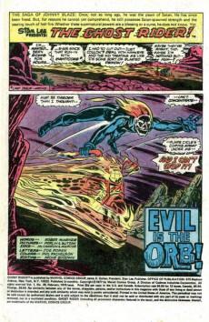 Extrait de Ghost Rider Vol.2 (Marvel comics - 1973) -28- Evil is the Orb!