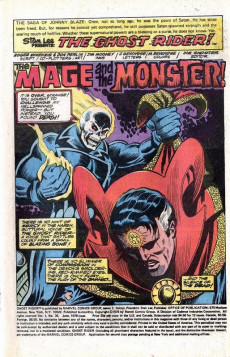 Extrait de Ghost Rider Vol.2 (Marvel comics - 1973) -30- The Mage and the Monster!