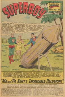 Extrait de Superboy (1949) -100- Ma and Pa Kent's Incredible Delusion!