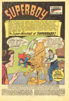 Extrait de Superboy (1949) -97- The Super-Mischief of Superbaby!