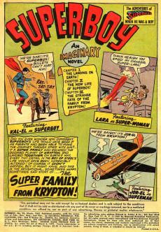 Extrait de Superboy (1949) -95- The Super-Family from Krypton!