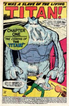 Extrait de Monsters on the prowl (Marvel - 1971) -11- A Titan Walks the Land!