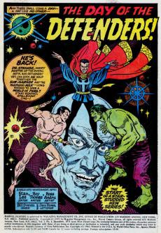 Extrait de Marvel Feature Vol 1 (Marvel - 1971) -1- Origin of The Defenders