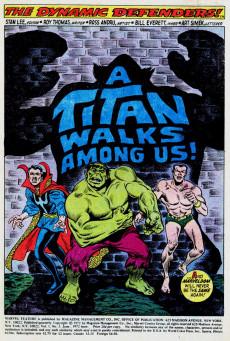 Extrait de Marvel Feature Vol 1 (Marvel - 1971) -3- A Titan Lurks Among Us!