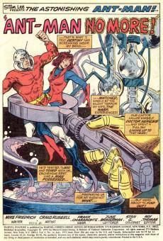 Extrait de Marvel Feature Vol 1 (Marvel - 1971) -10- The End of Ant-Man!