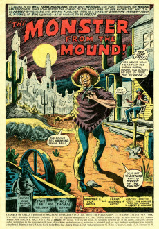 Extrait de Chamber of Chills (Marvel - 1972) -2- The Monster from the Mound!