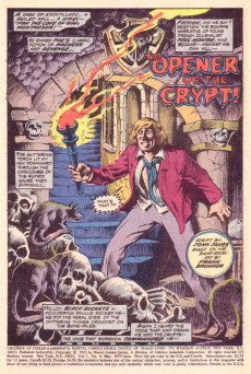 Extrait de Chamber of Chills (Marvel - 1972) -4- The Opener of the Crypt!