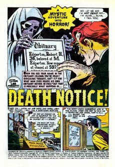 Extrait de Chamber of Chills (Marvel - 1972) -7- Prey for Keeps!