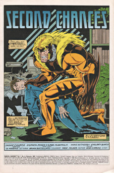 Extrait de Marvel Fanfare Vol. 2 (Marvel - 1996) -6- Sabretooth Unleashed! Power Man and Iron Fist Trapped!