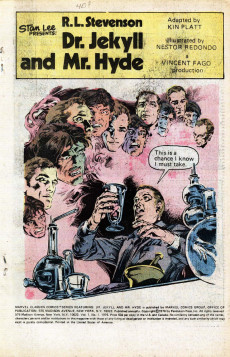 Extrait de Marvel Classics Comics (Marvel - 1976) -1- Dr. Jekyll and Mr. Hyde