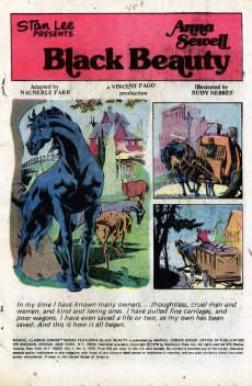 Extrait de Marvel Classics Comics (Marvel - 1976) -5- Black Beauty