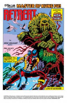 Extrait de Master of Kung Fu Vol. 1 (Marvel - 1974) -19- Martial Arts vs. Man-Thing
