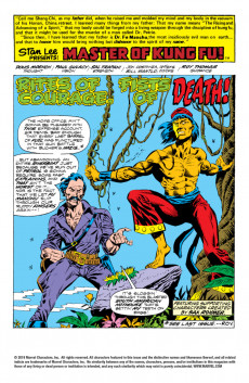 Extrait de Master of Kung Fu Vol. 1 (Marvel - 1974) -25- Fists of Fury -- Rites of Death!