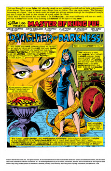 Extrait de Master of Kung Fu Vol. 1 (Marvel - 1974) -26- The Daughter of Fu Manchu!