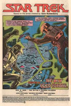 Extrait de Star Trek (1984) (DC comics) -2- Chapter II: ...The Only Good Klingon...