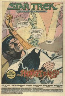Extrait de Star Trek (1984) (DC comics) -9- New Frontiers, Chapter I ...Promises to Keep
