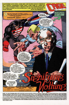 Extrait de Cage Vol. 1 (Marvel - 1992) -8- The Evil And The Cure Part 4 of 4