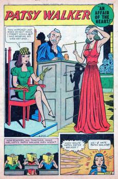 Extrait de Patsy Walker (Timely/Atlas - 1945) -14- An Affair of the Heart!