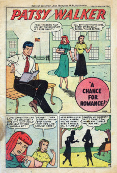 Extrait de Patsy Walker (Timely/Atlas - 1945) -25- Patsy's Chance for Romance!