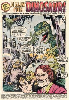 Extrait de Worlds Unknown (Marvel - 1973) -2- A Gun for Dinosaur!