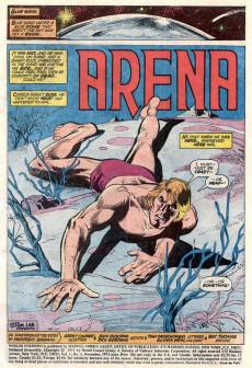 Extrait de Worlds Unknown (Marvel - 1973) -4- Arena!