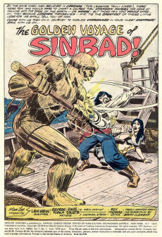Extrait de Worlds Unknown (Marvel - 1973) -7- The Golden Voyage of Sinbad!