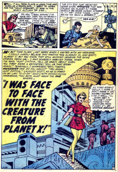 Extrait de Strange Worlds (Marvel - 1958) -3- I Was Face to Face with the Creature From Planet X!