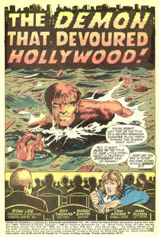 Extrait de Tower of Shadows (Marvel - 1969) -5- I Created... the Demon That Stalks Hollywood!
