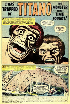 Extrait de Tower of Shadows (Marvel - 1969) -7- Titano! The Monster That Time Forgot!!