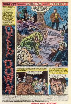 Extrait de Dead of Night Vol.1 (Marvel - 1973) -5- Deep Down!