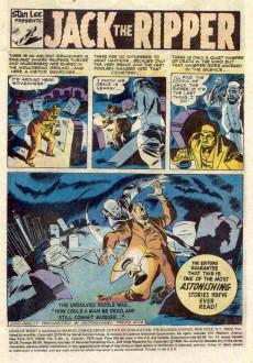 Extrait de Dead of Night Vol.1 (Marvel - 1973) -6- Jack the Ripper!