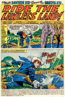 Extrait de Western Team-Up (Marvel - 1973) -1- Ride the Lawless Land!