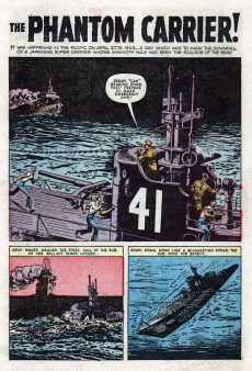 Extrait de Navy Combat (Atlas - 1955) -2- The Phantom Carrier!
