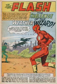 Extrait de Flash (The) Vol.1 (DC comics - 1959) -110- Challenge of the Weather Wizard!
