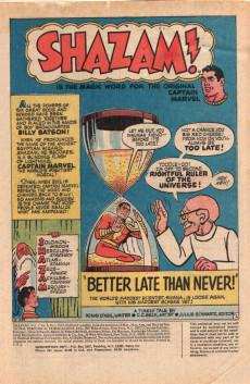 Extrait de Shazam (DC comics - 1973) -6- Better Late Than Never!