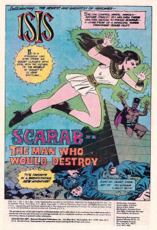 Extrait de Mighty Isis (The) (DC comics - 1976) -1- Scarab - The Man Who Would Destroy