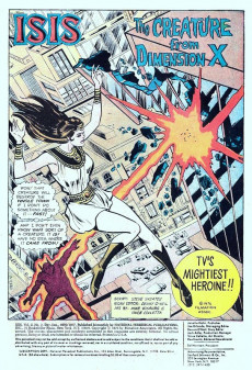 Extrait de Mighty Isis (The) (DC comics - 1976) -2- The Creature from Dimension X