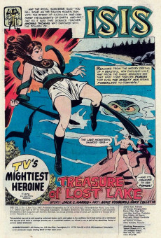 Extrait de Mighty Isis (The) (DC comics - 1976) -4- Treasure of Lost Lake