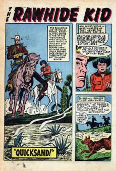 Extrait de Rawhide Kid Vol.1 (Atlas/Marvel - 1955) -6- Six-Gun Lesson!