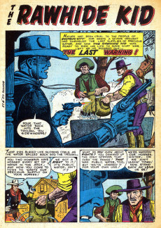 Extrait de Rawhide Kid Vol.1 (Atlas/Marvel - 1955) -15- Last Warning!