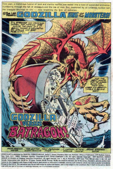 Extrait de Godzilla King of Monsters (Marvel - 1977) -4- The Coming of Batragon!