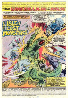 Extrait de Godzilla King of Monsters (Marvel - 1977) -5- Isle of the Living Demons!