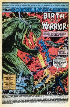 Extrait de Godzilla King of Monsters (Marvel - 1977) -7- Red Ronin!