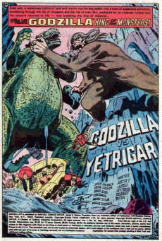 Extrait de Godzilla King of Monsters (Marvel - 1977) -10- Here Comes Yetrigar! The Biggest Big Foot of them All!