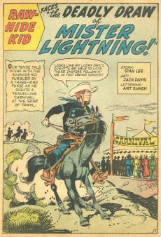 Extrait de Rawhide Kid Vol.1 (Atlas/Marvel - 1955) -34- Mister Lightning!