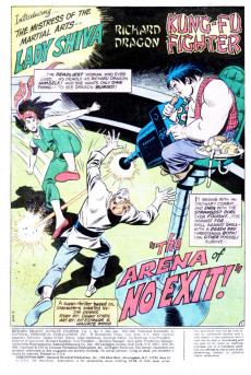 Extrait de Richard Dragon, Kung-Fu Fighter (DC Comics - 1975) -5- Her Name Is Lady Shiva...And She Hates Dragon's Guts!