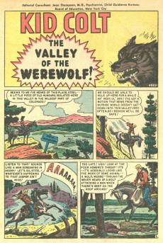 Extrait de Kid Colt Outlaw (Marvel - 1948) -6- The Valley of the Werewolf!