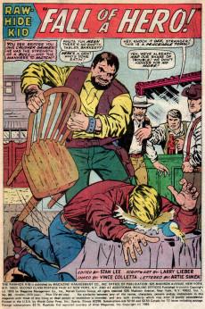 Extrait de Rawhide Kid Vol.1 (Atlas/Marvel - 1955) -80- Fall of a Hero!