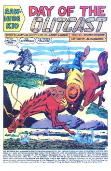 Extrait de Rawhide Kid Vol.1 (Atlas/Marvel - 1955) -94- Day of the Outcast!
