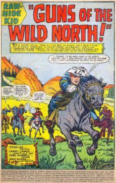 Extrait de Rawhide Kid Vol.1 (Atlas/Marvel - 1955) -118- Guns of the Wild North!